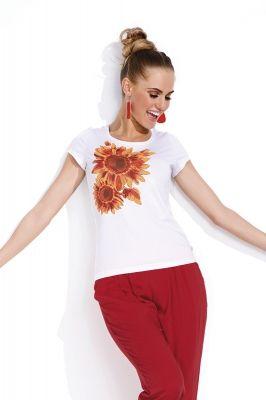 Блузка Sunny, белый/005 Фирма производитель: ZAPS Страна производитель: Польша  Артикул: Sunny Размер: 42-54 Состав: 95% вискоза, 5% эластан Цвета: белый, персиковый