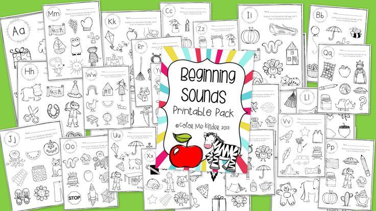 Initial Sounds NO PREP Printables for PreK and Kinder