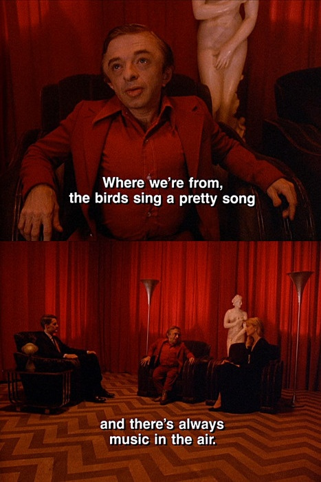 The Black Lodge ala Twin Peaks :) the weirdest yet coolest show ever made!
