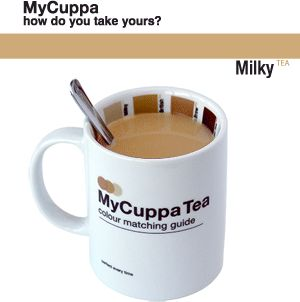 How do you take your tea colour match mug. Just Tea? Builders Brew? Classic British? Milky?
