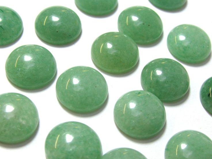 Groene aventurijn cabochon rond 12 mm