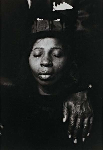 Constantine Manos :: USA. 1966. South Carolina. Aunt ( woman who adpoted the soldier) at the funeral of her nephew killed.
