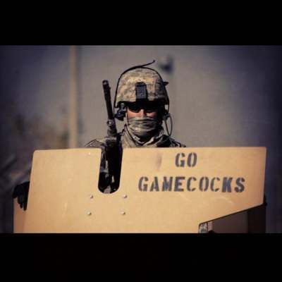 Go Gamecocks! South Carolina Gamecocks and the United States Military in Afghanistan representing. THE University of South Carolina Gamecocks