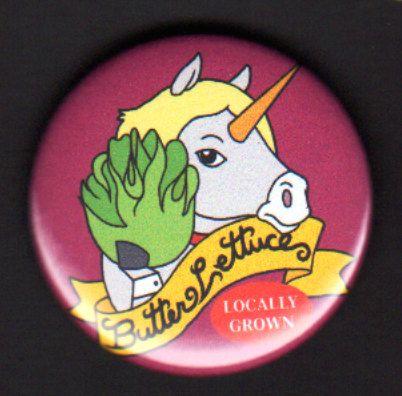 Más valientes guerreros - 1.75 pulgadas botón de Lechuga mantequilla