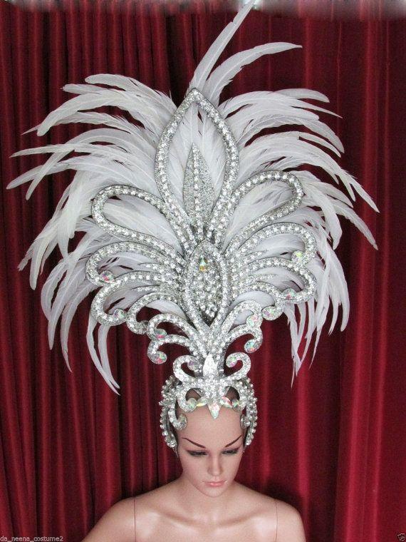 Queen of Big Hawk Showgirl Pageant Dancer Feather Headdress