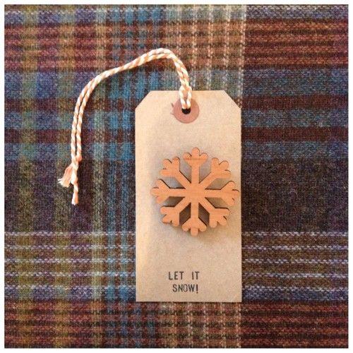 Let it snow! Snowflake brooch