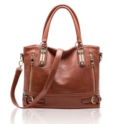 Womens Leather Handbag a Vintage Style Shoulder Soft PU Leather Crossbody…