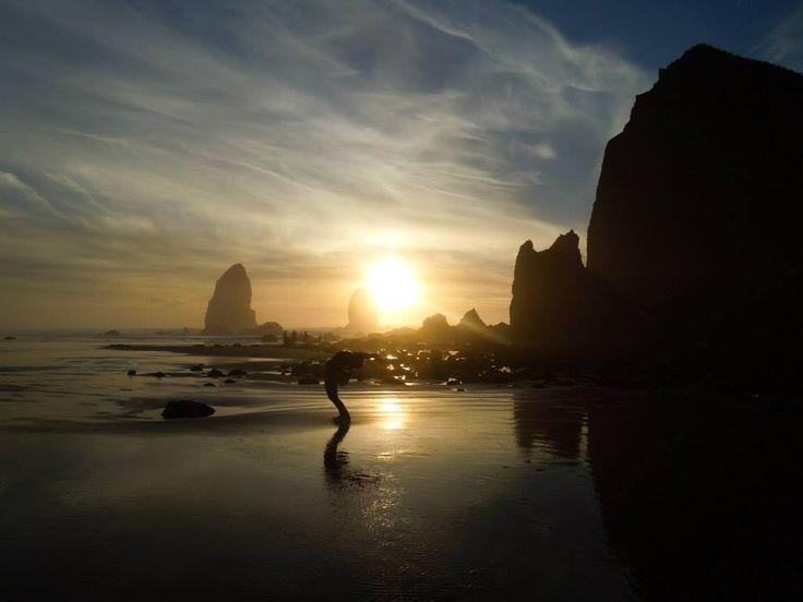 cannon beach, Oregon, on a visa validating road trip, January 2014