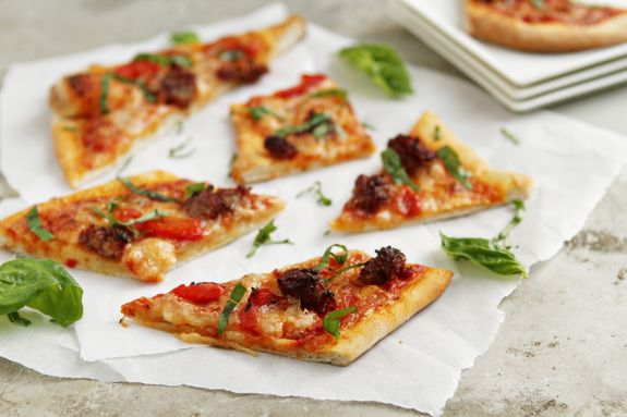 Grilled Pizza from mybakingaddiction.com.  Great way to style pizza.