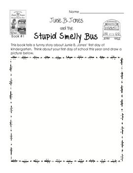 Junie B. Jones and her Big Fat Mouth Reading Comprehension Packet