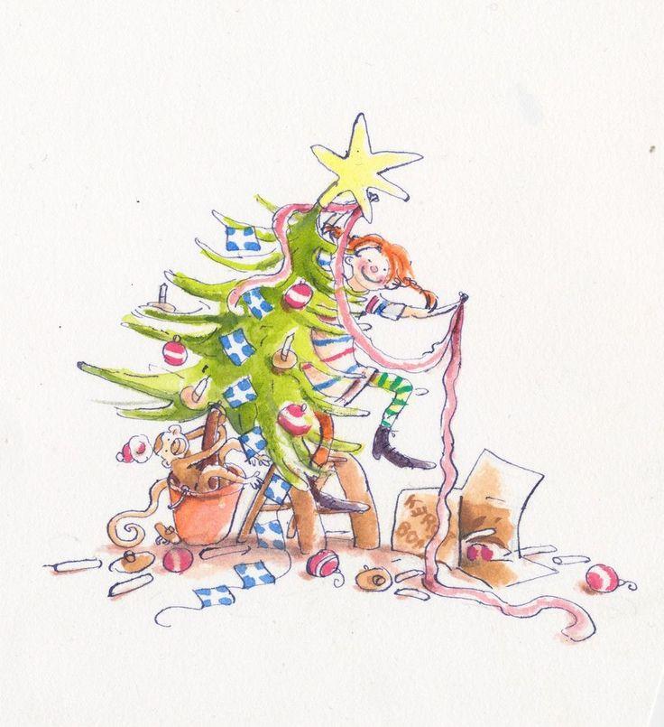 Pippi Longstocking drawing by Annet Schaap