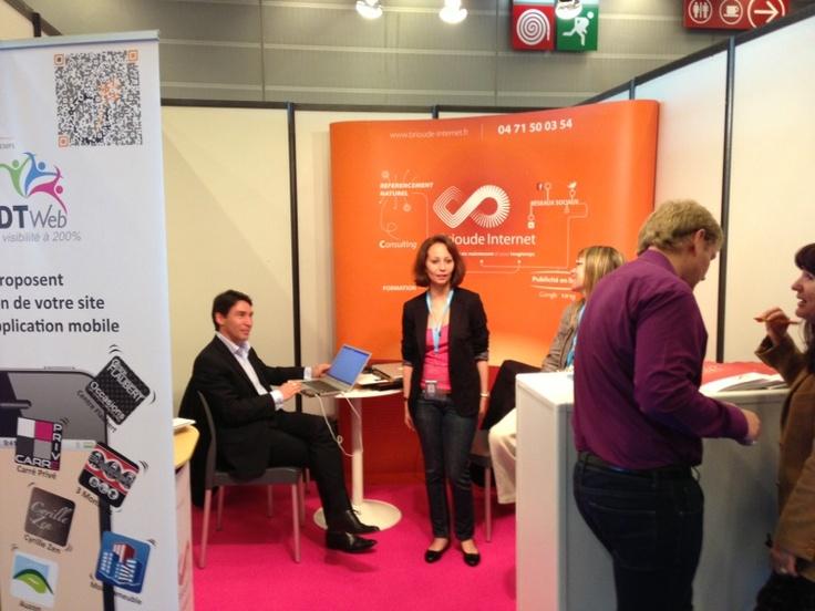 au Salon T2M à Paris, en compagnie de Brioude Internet