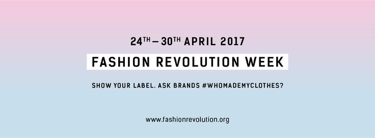 Fashion Revolution Week is an annual event that encourages consumers to ask brands #whomademyclothes? This simple question ignites a global conversation about supply chain transparency while encouraging consumers to think differently about what they wear.