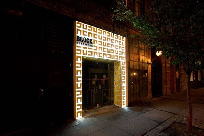 block headwear storefront bowery new york block headwear retail store designer new york pinterest retail commercial design and interiors - Storefront Design Ideas