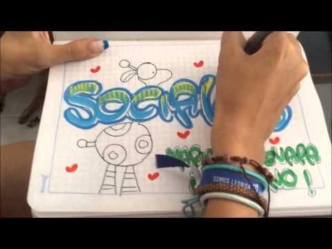 Marca Tus Cuadernos. Diseño de letras - YouTube