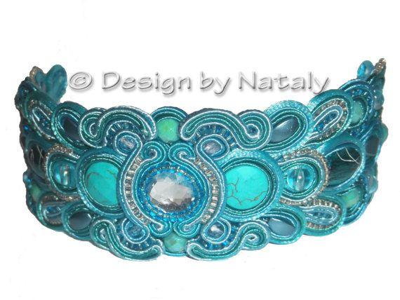 GRATIS verzending Soutache sieraden armband Teal Turquoise