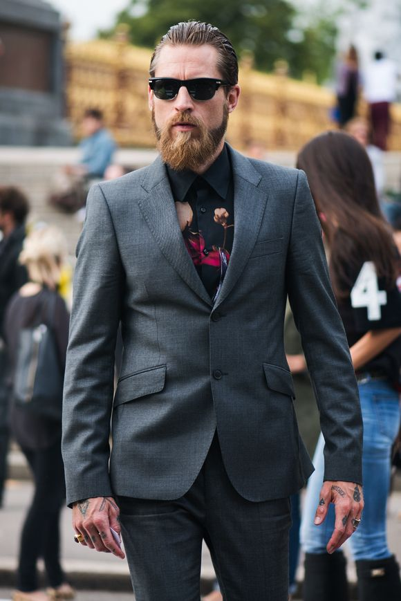 Even the coolest of cool, Justin O'Shea, is digging the florals. That surely makes it cool, doesn't it?