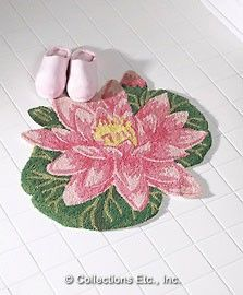lilly pad rug com step out of the tub and onto a
