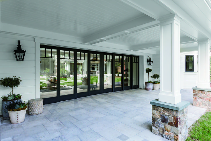 Transform your room with pella architect series multi for Multiple sliding glass doors