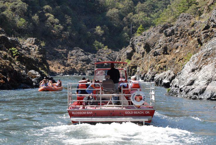 Rogue River Jet Boat cruise.  Gold Beach, Oregon