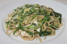 Volkoren pasta met andijvie