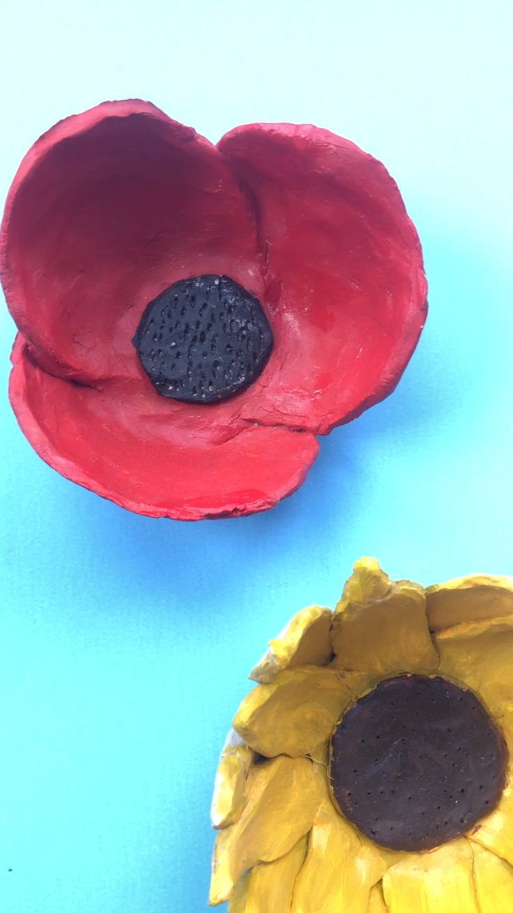Diy Sunflower Clay Bowls Clay Projects For Kids Clay Crafts For