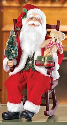 Santa Claus in Rocking Chair Tabletop Decoration