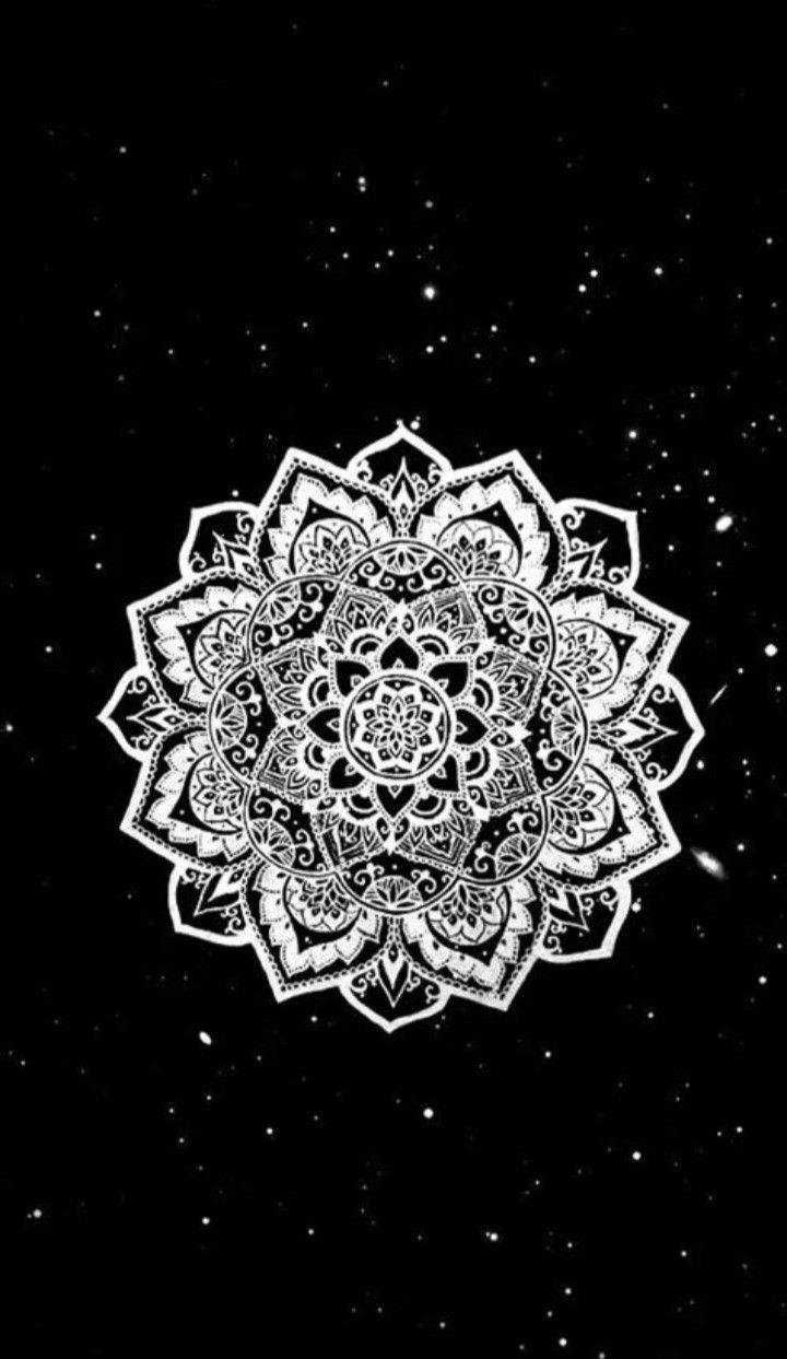 Beautiful Mandala En 2020 Fond D Ecran Mandala Mandala Noir Et Blanc Fond D Ecran Telephone