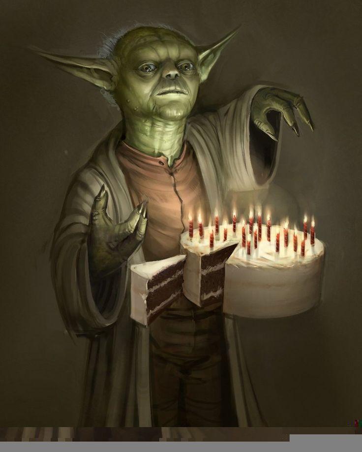 Yoda's birthday cake.