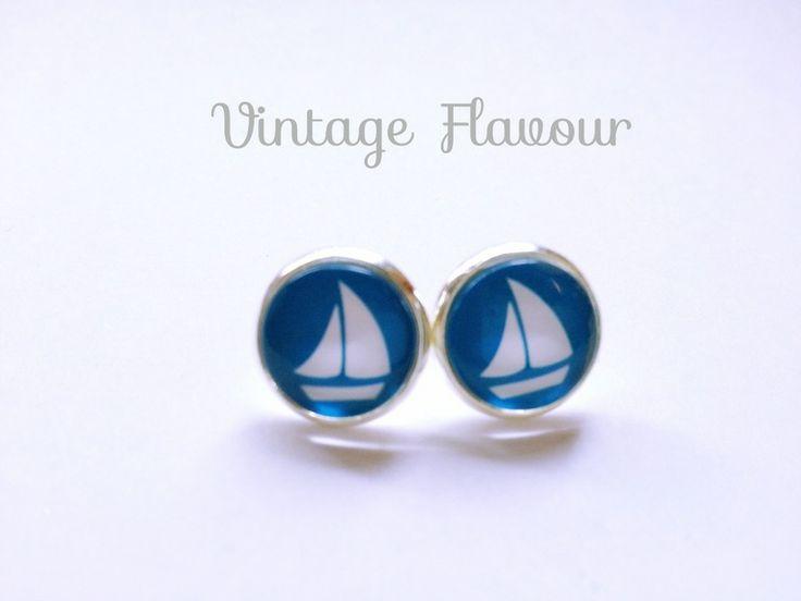 Ohrstecker Segelboot ♥ Ohrringe ♥ Vintage von Vintage Flavour ♥  auf DaWanda.com