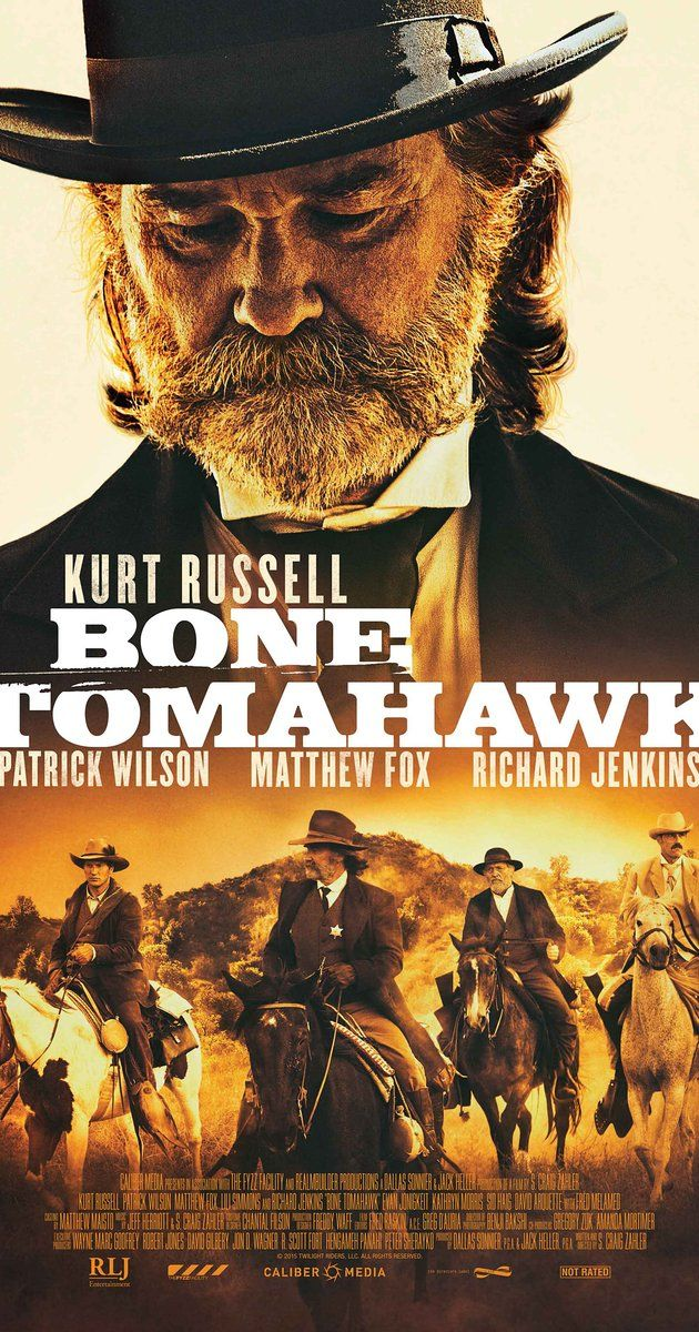 Directed by S. Craig Zahler.  With Kurt Russell, Patrick Wilson, Matthew Fox, Richard Jenkins. Four men set out in the Wild West to rescue a group of captives from cannibalistic cave dwellers.