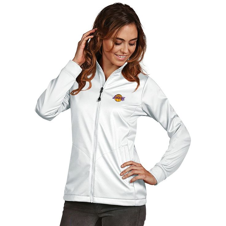 Women's Antigua Los Angeles Lakers Golf Jacket, Size: Medium, White