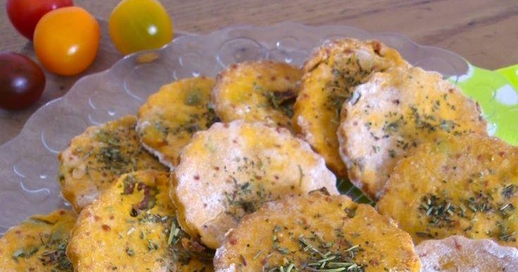 Rosenoisettes, Calme et Gourmandises...: Biscuits salés à la tomate, olive verte et parmesan (sans gluten)