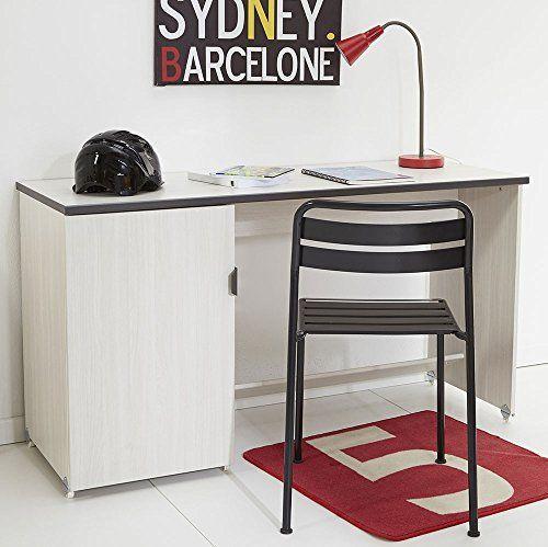 Schreibtisch beige B 136 cm esche PC Computertisch Kinderschreibtisch Jugendschreibtisch Bürotisch Jugendzimmer Kinderzimmer