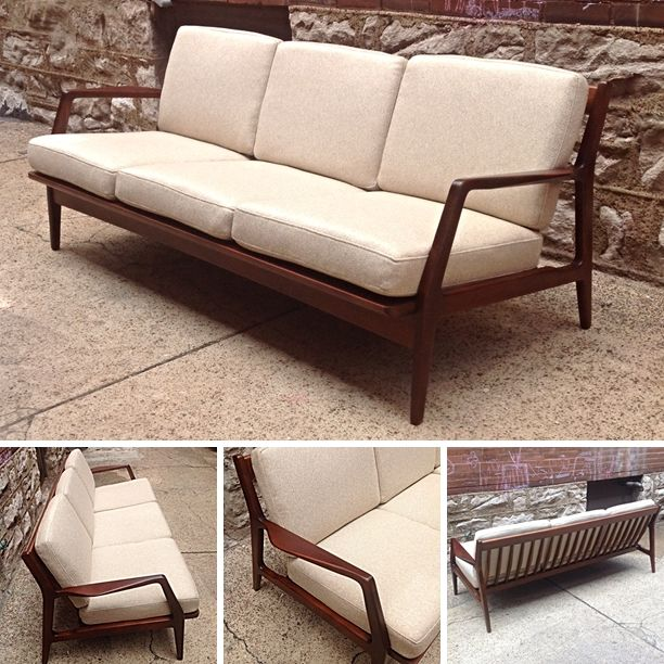 IB  KofodLarsen  Vintage  DanishModern  Sofa  Totally Refinished   Newly  upholstered  St LouisMid Century Modern. 72 best       images on Pinterest   Sofas  Chairs and Woodwork