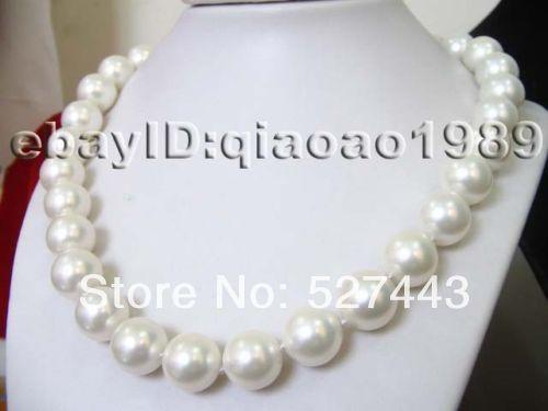 Оптовая продажа бесплатная доставка > ааа блеск оптовая продажа 6 кол во 12 мм белый морские раковины жемчужные ожерелья