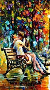 W parku na ławce