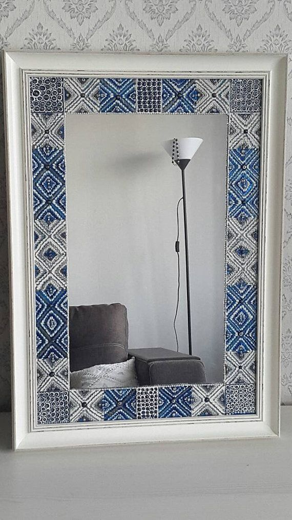 Decorative hand painted Mirror Heavenly patterns. от Zolotun