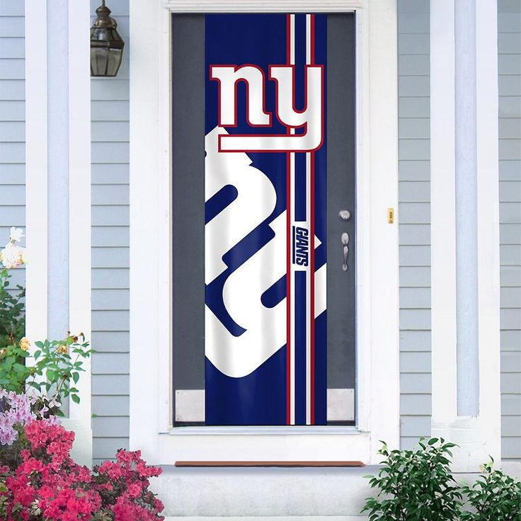 New York Giants Two-Sided Door Wrap, Multicolor