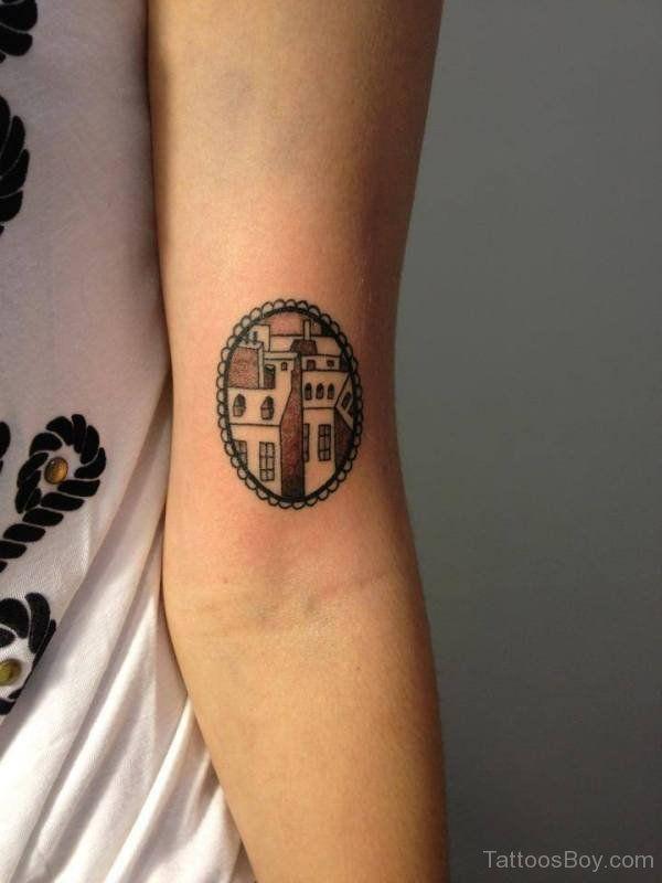 Cute Inner Elbow Tattoo
