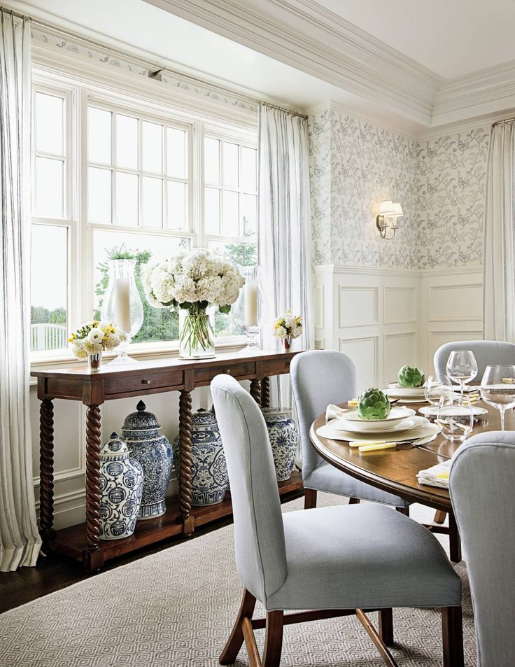 Round Table With Tall Chairs, Alexa Hampton. Find This Pin And More On BEAUTIFUL  DINING ROOMS ...