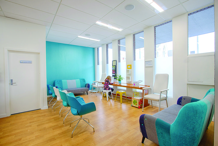 Splash of colour in this new Dr's waiting room designed by Will Lewis of Lewis Architecture #ADNZ #architecture #colour