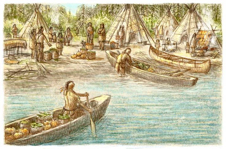 Algonquians and Iroquoians traded goods