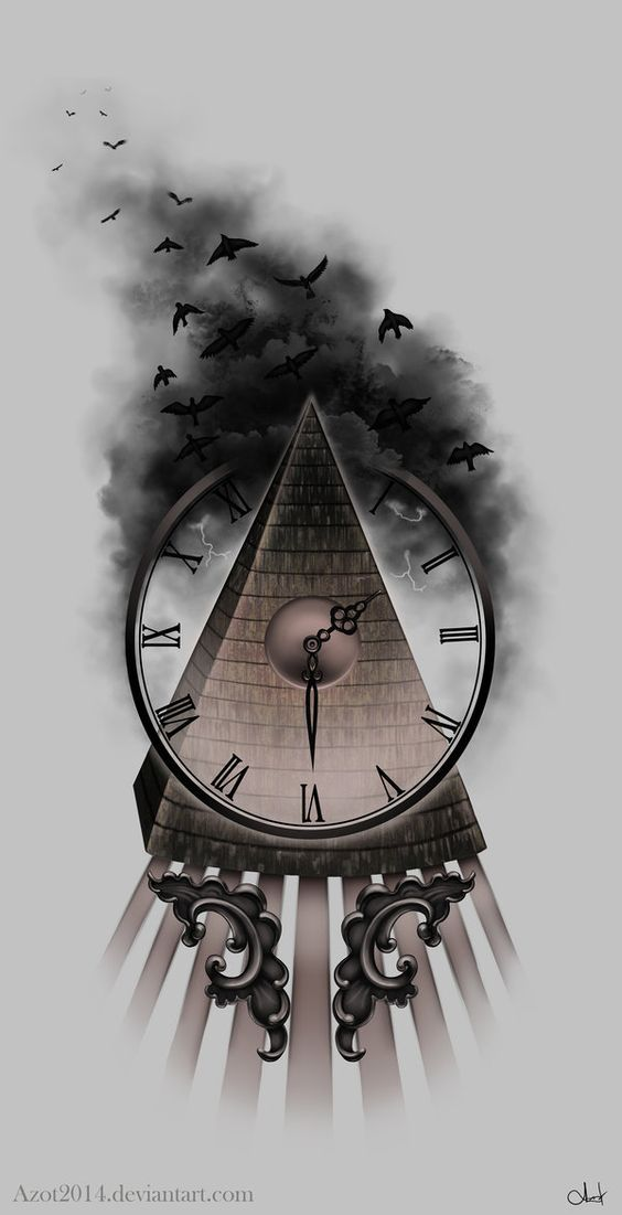 Tattoo - Broken time by Azot2014: