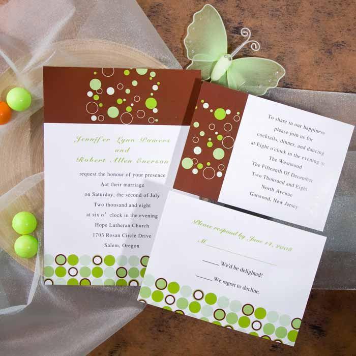 best price wedding invitations%0A Inexpensive modern green polka dots wedding invitations EWI