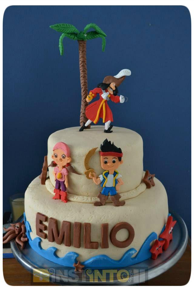 Torta de cumpleaños Jacke y los piratas del nunca jamas