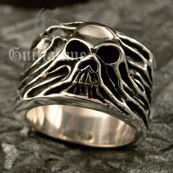 """Men's Sterling Silver Ring """"Rising Skull"""" / Guillaume collection / More info contact on onyxdesignstudio.com"""