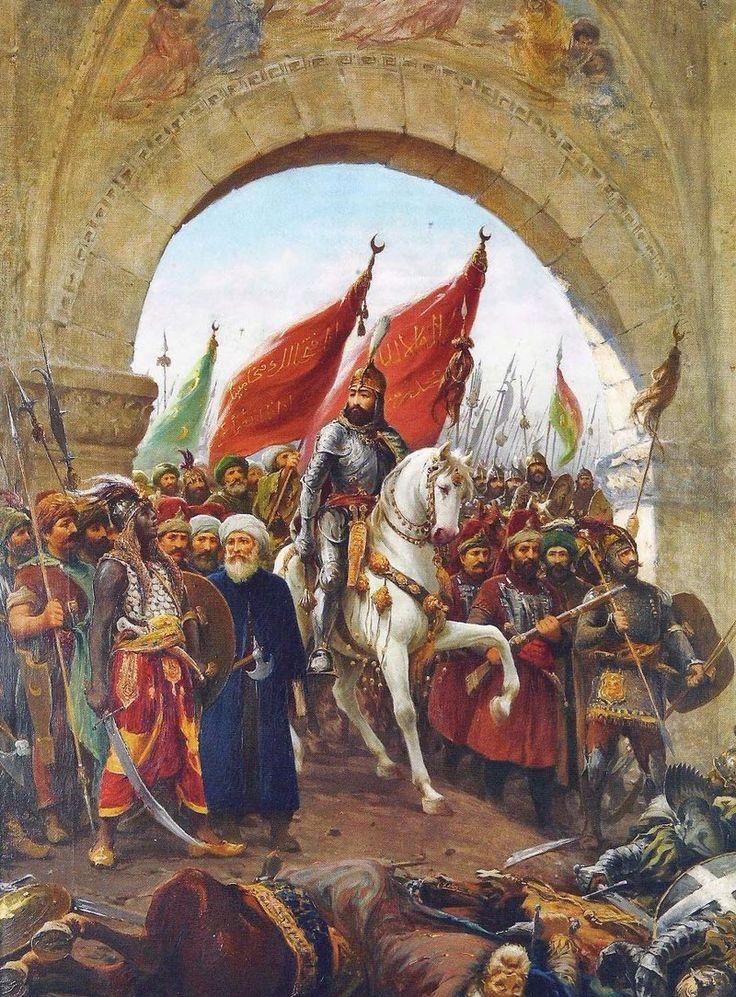 Maomé II entrando em Constantinopla com seu exército Por Fausto Zonaro