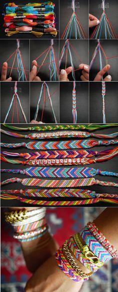DIY bracelets de l'amité - bracelet brésilien #friendshipbracelets #macrame #bracelets