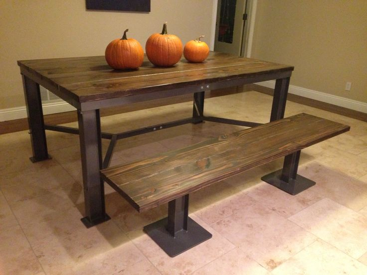 Rustic Industrial Dining Room Table AMY AND MICHAEL 39 S HOUSE